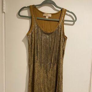 XS Gold Michael Kors dress